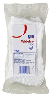 Aro Widelce plastikowe białe sztaplowane 100 sztuk