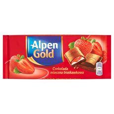 Alpen Gold Czekolada mleczna truskawkowa 90 g 5 sztuk