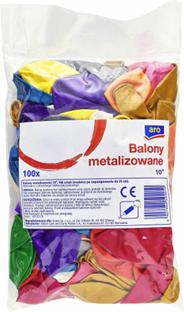 Aro Balony metalizowane 100 sztuk