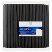 H-Line Słomki do napojów proste czarne 24 cm 250 sztuk