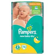 Pampers New Baby-Dry rozmiar 2 (Mini), 76 pieluszek