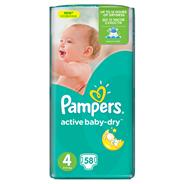 Pampers Active Baby-Dry rozmiar 4 (Maxi), 58 pieluszek