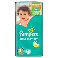 Pampers Active Baby-Dry rozmiar 4+ (Maxi+), 53 pieluszek