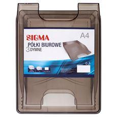Sigma Półki biurowe dymne A4 3 sztuki