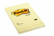 Post-it Karteczki samoprzylepne w kratkę żółte 100 karteczek 102x152 mm