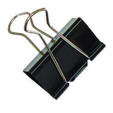 Office Product Klipsy metalowe do dokumentów czarne 19 mm