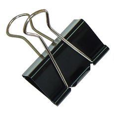 Office Product Klipsy metalowe do dokumentów czarne 41 mm