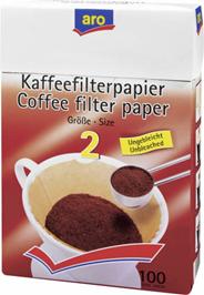 ARO Filtry do kawy nr 2 100 sztuk