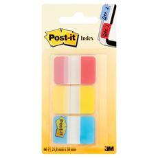 Post-it Zakładki do wielokrotnego oznaczania stron 3 kolory po 22 karteczki 25,4x38 mm