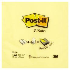 Post-it Z-Notes Bloczek samoprzylepny harmonijkowy żółty 100 karteczek 76x76 mm