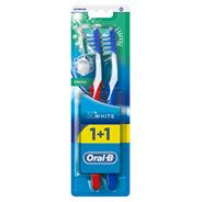 Oral-B 3D White Manualna szczoteczka dozębów, średnia