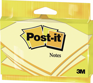 Post-it Karteczki samoprzylepne żółte 100 karteczek 76x127 mm