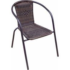 Fotel rattanowy, czarny