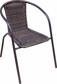Fotel rattanowy, brązowy