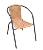 Fotel rattanowy, beżowy