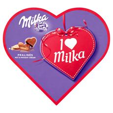 Milka Czekoladki mleczne z nadzieniem migdałowym I Love Milka 137,5 g (25 sztuk)