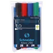 Schnider Maxx 290 Zestaw markerów do tablic i flipchartów mix kolorów 2-3 mm 4 sztuki