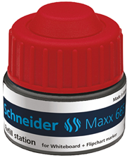 Schneider Maxx 665 Stacja uzupełniająca do markerów czerwony 30 ml