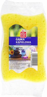 Fine Life Gąbka do kąpieli żółta