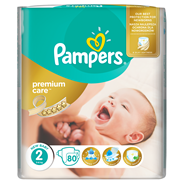 Pampers Premium Care Pieluchy 2 (Mini), 3-6kg, 80 sztuk