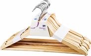 ARO wieszaki drewniane naturalne