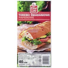 Fine Life Torebki śniadaniowe 12,5x25 cm 40 sztuk