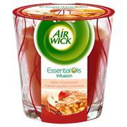 Air Wick Essential Oils Infusion Świeczka o zapachu jabłka z cynamonem 105 g