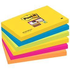 Post-it 655 Super Stick Karteczki samoprzylepne 90 karteczek 76x127 mm
