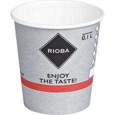 Rioba Kubki papierowe do gorących napojów 100 ml 80 sztuk