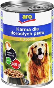 ARO Karma mokra dla psa z drobiem 400 g