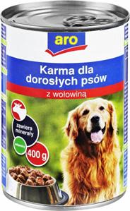 ARO Karma mokra dla psa z wołowiną 400 g
