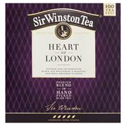 Sir Winston Tea Heart of London Aromatyzowana herbata czarna 200 g (100 x 2 g)