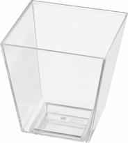 Papstar Finger Food Pojemnik na przekąski kwadrat 5 x 4,5 x 4,5 cm 50 ml 50 sztuk