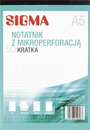 Sigma Notatnik kratka 50 kartek A5