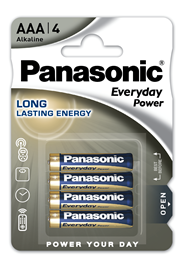 Baterie Alkaliczne Panasonic Everyday Power. Typ AAA (LR03)