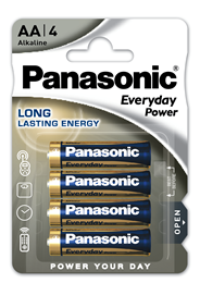Baterie Alkaliczne Panasonic Everyday Power. Typ AA (LR6)