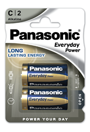 Baterie Alkaliczne Panasonic Everyday Power. Typ C (LR14)