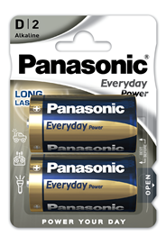 Baterie Alkaliczne Panasonic Everyday Power. Typ D (LR20)