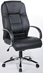 Sigma EC06 Fotel skóropodobny czarny