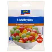 Aro Landrynki o smaku owocowym 100 g 10 sztuk