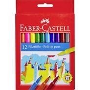Faber Castell Flamastry Zamek 12 kolorów
