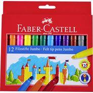 Faber Castell Flamastry Jumbo 12 kolorów