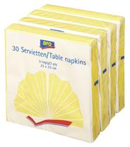 ARO Serwetki kwadratowe żółte 33x33 cm 30 sztuk