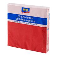 ARO Serwetki kwadratowe czerwone 33x33 cm 30 sztuk