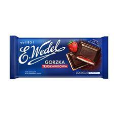E. Wedel Czekolada gorzka truskawkowa 100 g
