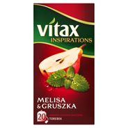 Vitax Inspirations Melisa and Gruszka Herbata ziołowo-owocowa 40 g (20 torebek)