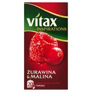 Vitax Inspirations Żurawina and Malina Herbata ziołowo-owocowa 40 g (20 torebek)