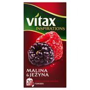 Vitax Inspirations Malina and Jeżyna Herbata ziołowo-owocowa 40 g (20 torebek)