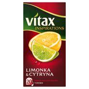 Vitax Inspirations Limonka and Cytryna Herbata owocowo-ziołowa 40 g (20 torebek)