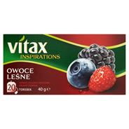 Vitax Inspirations Owoce leśne Herbata ziołowo-owocowa 40 g (20 torebek)